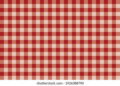 red gingham seamless texture for tablecloth, shirt, fabric and other products. Vector pattern.