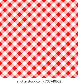 Red Gingham Tablecloth Seamless Diagonal Pattern