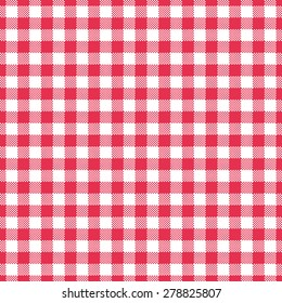red gingham tablecloth seamless pattern background