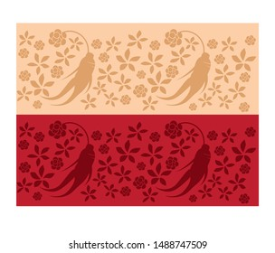 red ginseng graphics design Vector