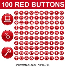 Red Glossy Buttons