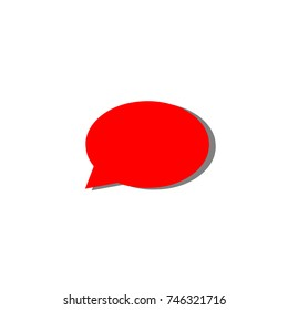 Red glossy word speech. 3D icon
