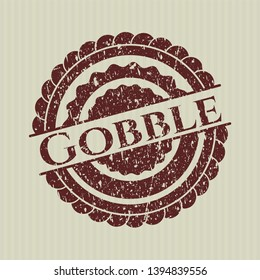 Red Gobble distressed rubber grunge stamp