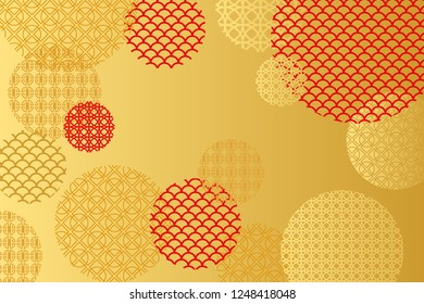Red and Gold background for Chinese New Year Greeting Card. Vector EPS10