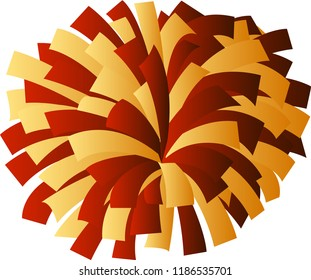 Red and gold cheerleader pom-pom