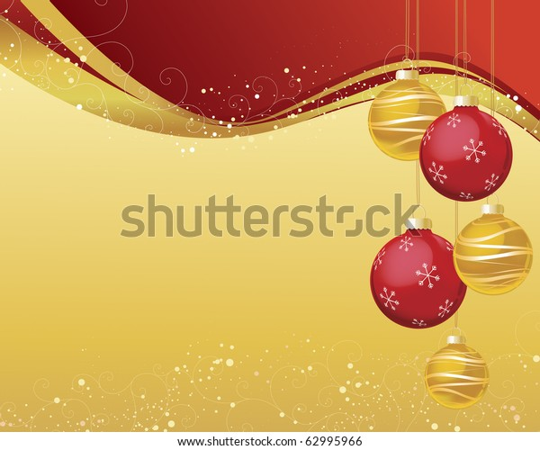 red gold christmas ornaments on 600w 62995966