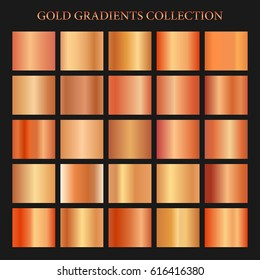 Red gold gradient collection for fashion design. Vector illustration.
