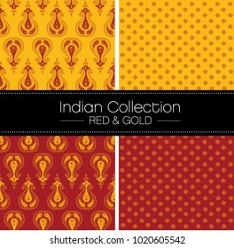 Red and Gold Indian Patterns