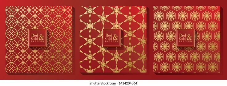 Red and Gold Print Pattern