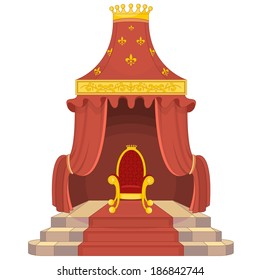 Red and Gold Royal Chair