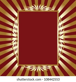 Red and gold vintage frame