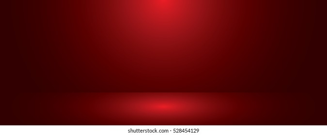red gradient abstract background. panoramic or studio with blank space