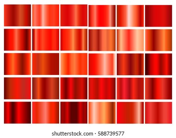 Red gradient collection for your design.Vector set of red gradients.