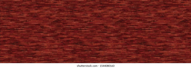 Red Gray Marl Variegated Heather Texture Border Background. Vertical Blended Line Seamless Pattern. Faux T-Shirt Fabric Dyed Organic Jersey Textile Banner. Triblend Melange Ribbon Trim. Vector Eps 10