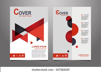 Red and gray Vector annual report Leaflet Brochure Flyer template design, book cover layout design, Abstract  red and gray presentation book cover templates.