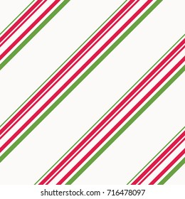 Red and Green Candy Cane Stripes Christmas Seamless Pattern - Great for Christmas and Winter Projects, Wrapping Paper, Backgrounds, Wallpapers.