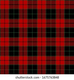 Red, Green Christmas and Black modern tartan plaid Scottish seamless pattern.Texture from plaid, tablecloths, clothes, shirts, dresses, jacket, skirt, paper, blankets and other textile products.