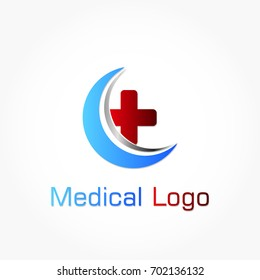 red grey heart shape with medical cross logo vector with wings and oval frame