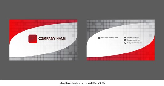 Red Grey Modern Business card