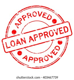 """Red grunged """"loan approve"""" stamp"""