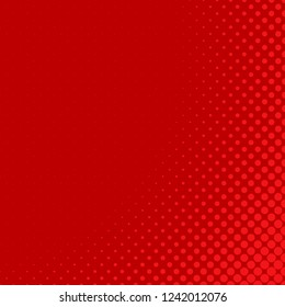 Red halftone circle background pattern template - abstract vector graphic design