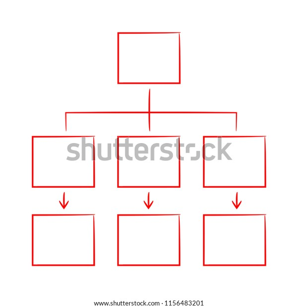 Red Hand Drawn Sketch Diagram Template Stock Vector Royalty Free 1156483201
