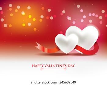 Red Happy Valentines Day background