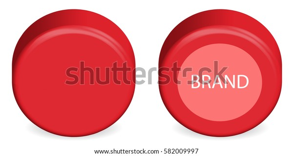 Red Head ( Wheel ) of Cheese. Isolated Vector version on white background.