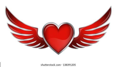 Download Vector - HEART AND WINGS - Vectorpicker   280x487