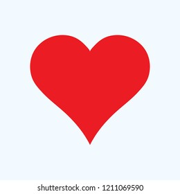 Red heart icon, love icon