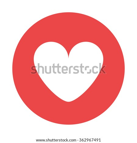 Red Heart Icon White Heart Red Stock Vector Royalty Free 362967491