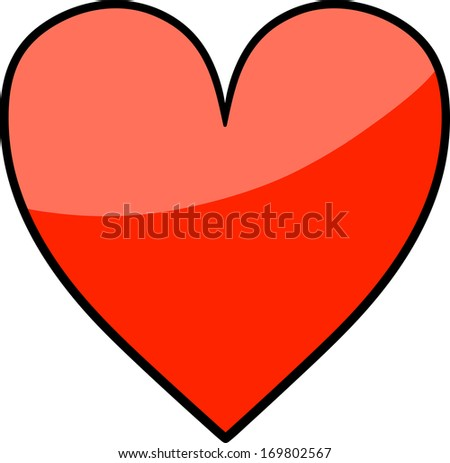 Red Heart Love Symbol Illustration Stock Vector Royalty Free