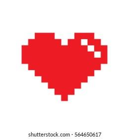 Red heart Pixel.