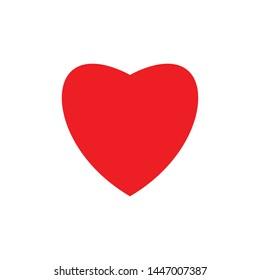 Red heart symbol vector icon
