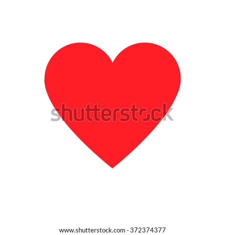 Red Heart Symbol Vector Icon Valentine Stock Vector Royalty Free