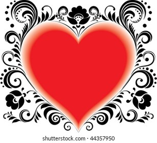 red heart valentine