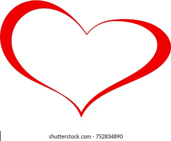Red Heart Valentine Love Logo Vector