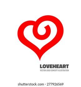Red heart - vector logo template concept illustration. Love sign. Valentine's Day creative symbol. Design element.