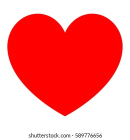 Red heart for womens day - icon.