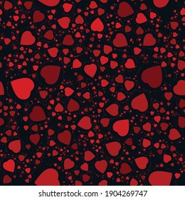 red hearts at black background. hearts texture. hearts background