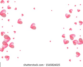 Red hearts flying wallpaper pattern. Social media like vector symbols. Modern wedding invitation card background. Party decor hearts flying beautiful banner backdrop.