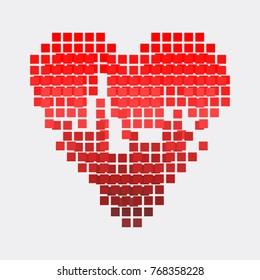 red heart,vector illustration