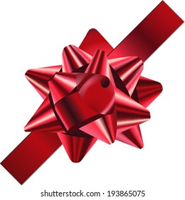 Red Holiday Bow or Ribbon