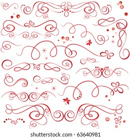 Red holiday design elements