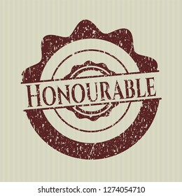 Red Honourable rubber grunge texture seal