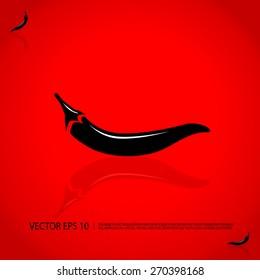 Red hot chili pepper vector illustration