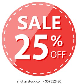 Red Hot Sale 25% Off Label