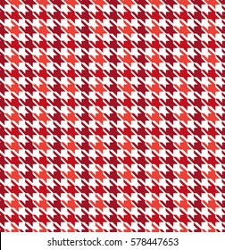 Red Houndstoooth Seamless Pattern Design
