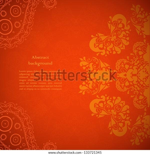 Red Indian Vintage Ornament. Vector illustration for your business presentation