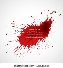red ink splatter vector